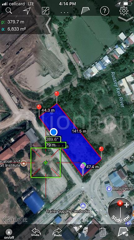 ដីជ្រុងកែងល្អ លក់តំលៃពិសេសខ្លាំង លេីផ្លូវ 598 (ផ្លូវ ជា សុផារ៉ា មុខ Grand Phnom Penh):