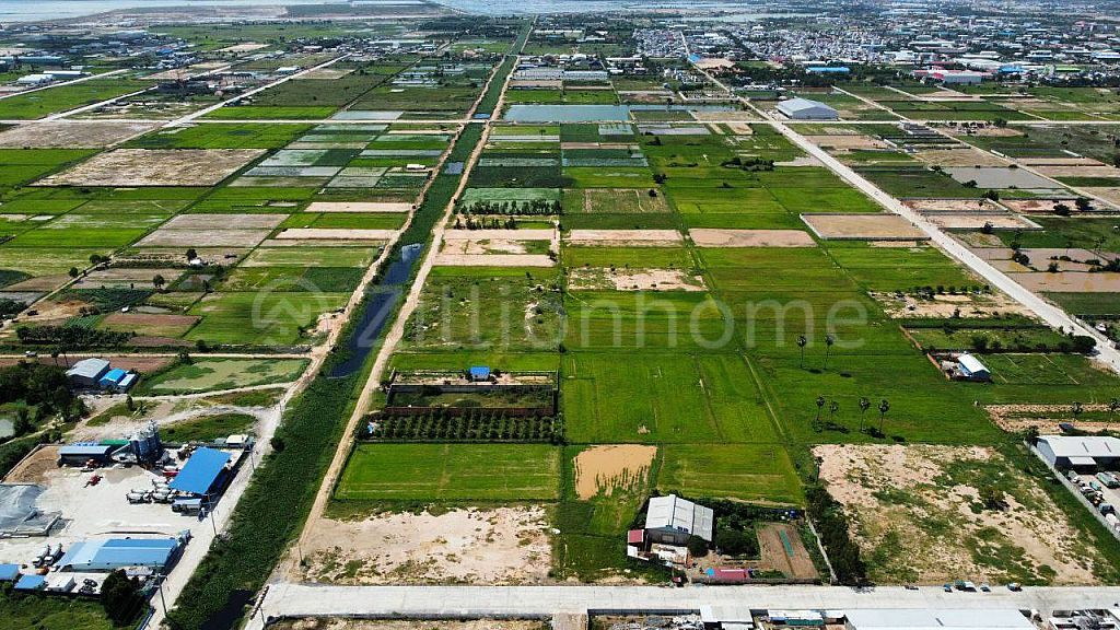 Conner Land For Sale -On public street 16m,12m,and 12m infront of Borey Phnom Penh Thmey