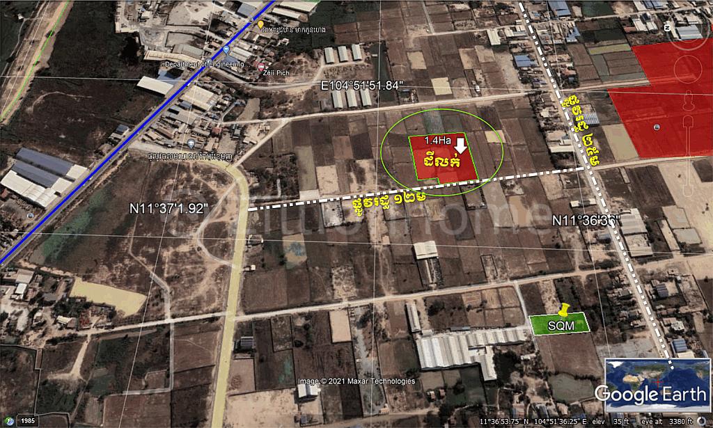 Land For Sale -On public street 12m Khmuonh, SenSok