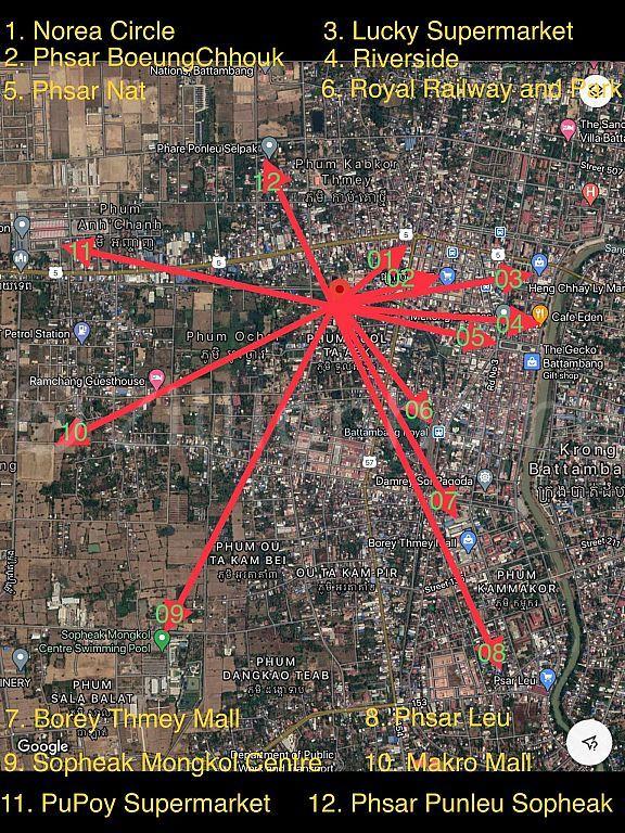 Battambang City Vacant Land with Hard title