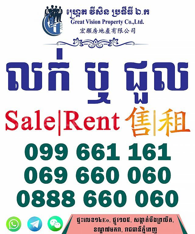 Linked House For Sale|Rent in Borey Peng Huoth 60m (The Star Diamand)